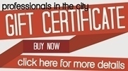 Professionals in the City Gift Certificates